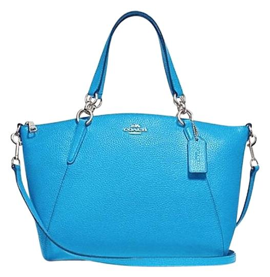 Preload https://item2.tradesy.com/images/coach-kelsey-in-pebble-bright-blue-leather-satchel-23888086-0-2.jpg?width=440&height=440
