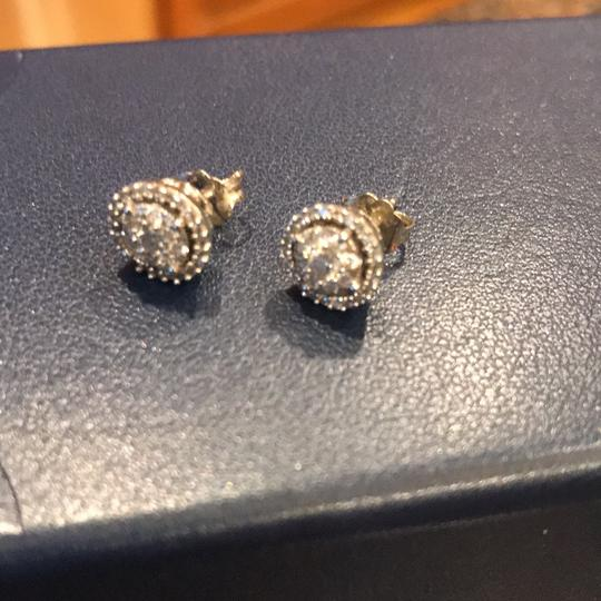 Macy's 1/2 Carat Diamond Cluster Stud Earrings