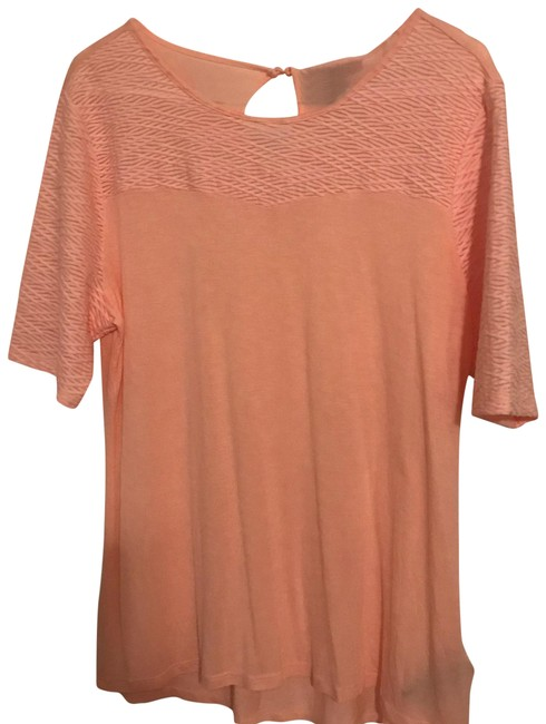 Preload https://item1.tradesy.com/images/nine-west-blush-with-textured-area-and-sleeves-tee-shirt-size-16-xl-plus-0x-23888115-0-1.jpg?width=400&height=650