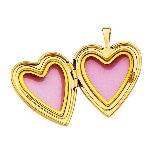 TD Collections 14K Yellow Gold Heart Locket Pendant