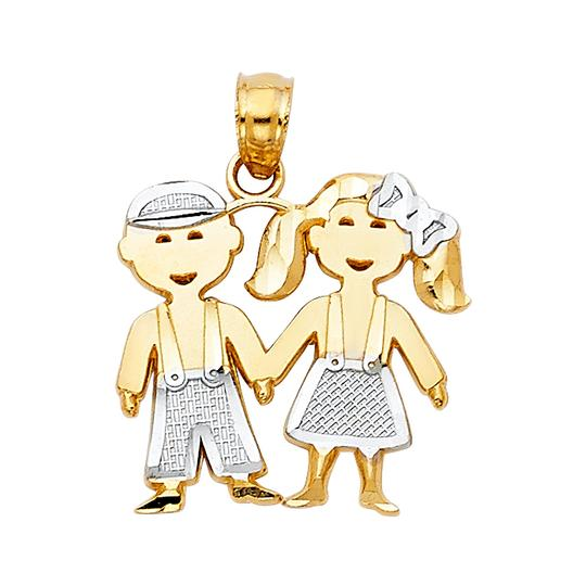 Preload https://img-static.tradesy.com/item/23888133/two-tone-14k-gold-girl-and-boy-pendant-charm-0-0-540-540.jpg