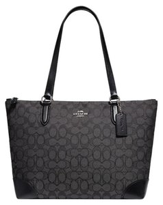 Coach New With Tags Tote in Smoke / Black