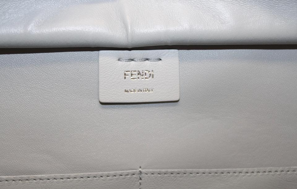 Suede Satchel 3jours Leather Body Pearl New Fendi Cross Grey Bag q6wnCSCE