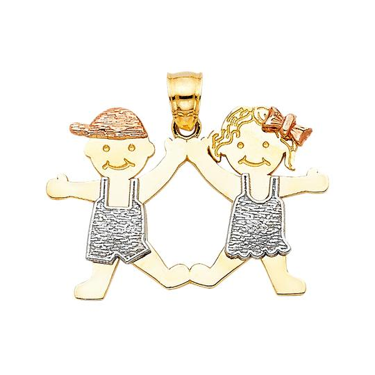 Preload https://img-static.tradesy.com/item/23888139/tri-color-14k-gold-girl-and-boy-pendant-charm-0-0-540-540.jpg