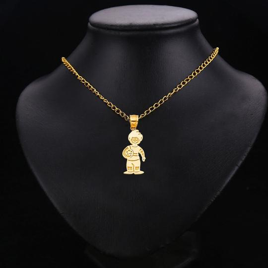TD Collections 14K Yellow Gold Boy with Ball Pendant