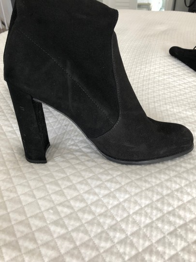 Stuart Weitzman Suede Over The Knee Black Boots