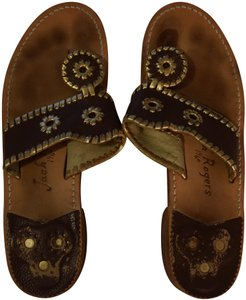 Jack Rogers brown and gold Sandals