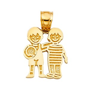 TD Collections 14K Yellow Gold Boy's with Ball Pendant