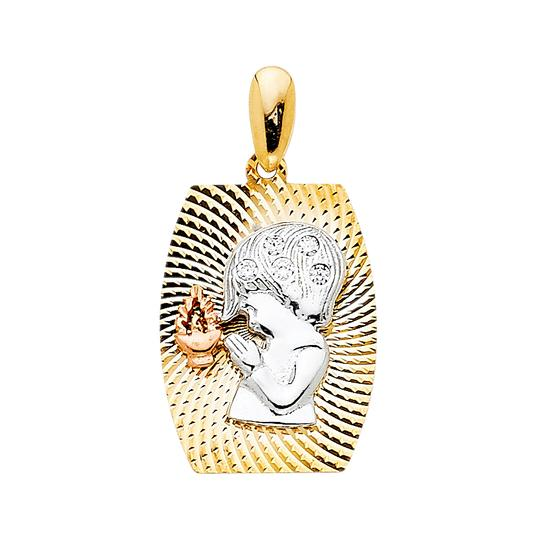Preload https://item5.tradesy.com/images/tri-color-14k-gold-cz-religious-praying-boy-pendant-charm-23888174-0-0.jpg?width=440&height=440