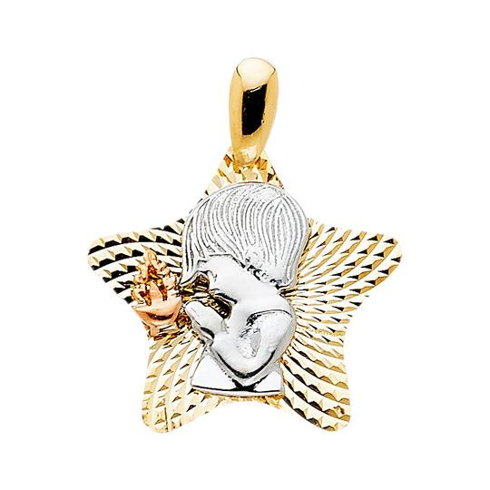 Preload https://img-static.tradesy.com/item/23888180/tri-color-14k-gold-star-with-religious-praying-boy-pendant-charm-0-0-540-540.jpg