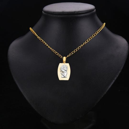 TD Collections 14K Two Tone Gold CZ Religious Praying Boy Pendant