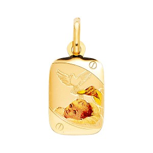 TD Collections 14K Yellow Gold Baptism Religious Pendant