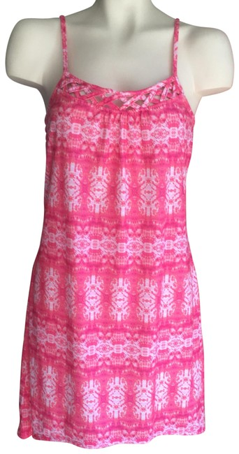 Preload https://item5.tradesy.com/images/no-boundaries-shades-of-pink-with-white-summer-nwot-medium-short-casual-dress-size-10-m-23888224-0-1.jpg?width=400&height=650