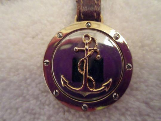 Gucci Anchor & Interlocking G Logo Keychain Key Chain 1980's HTF