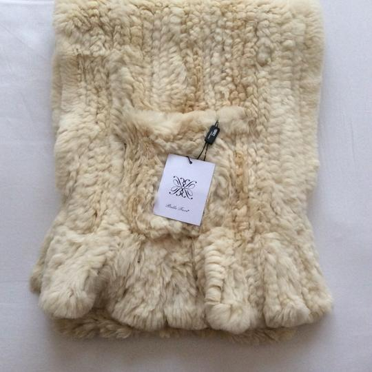 Belle Fare Knitted Rex Rabbit Wrap with Pockets