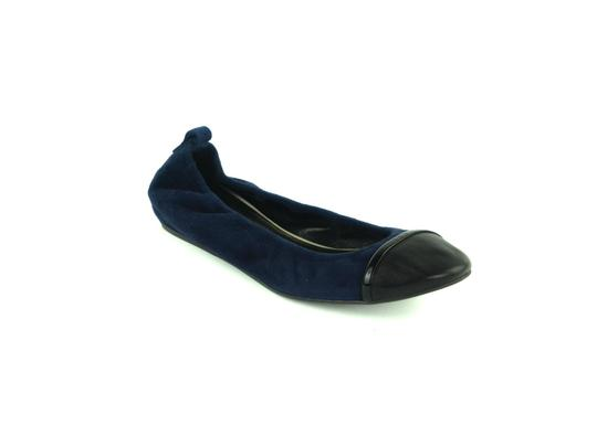 Lanvin Italian Suede Leather Navy blue Flats