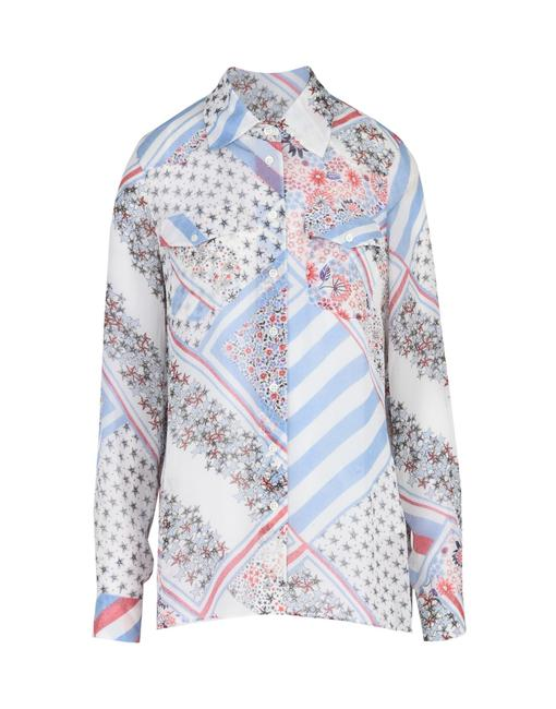 Preload https://item1.tradesy.com/images/tommy-x-gigi-hadid-whitebluered-hilfiger-button-down-top-size-6-s-23888270-0-0.jpg?width=400&height=650