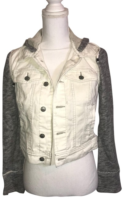 Free People ivory Womens Jean Jacket