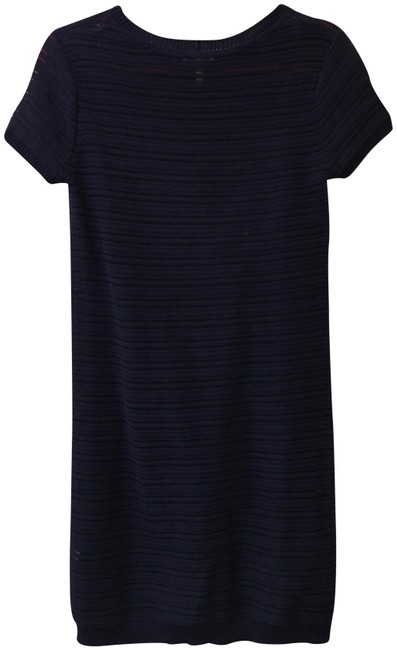 Preload https://img-static.tradesy.com/item/23888273/joie-navy-blue-pointelle-knit-shift-mid-length-workoffice-dress-size-6-s-0-1-650-650.jpg