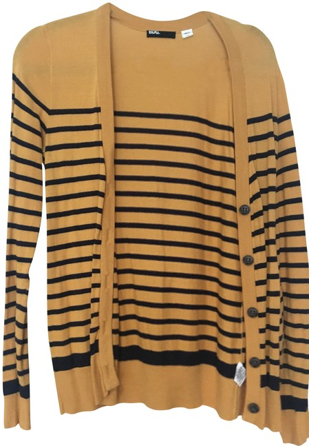 Preload https://img-static.tradesy.com/item/23888297/urban-outfitters-gold-and-navy-stripe-cardigan-size-8-m-0-1-650-650.jpg