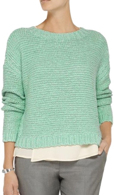 Preload https://img-static.tradesy.com/item/23888309/elizabeth-and-james-green-knit-sweaterpullover-size-2-xs-0-1-650-650.jpg