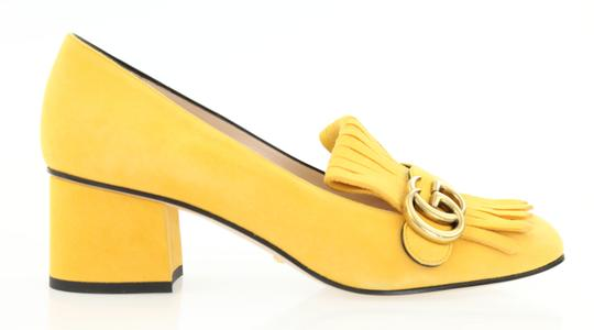 Preload https://item1.tradesy.com/images/gucci-yellow-marmont-suede-fringe-loafer-pumps-size-eu-395-approx-us-95-regular-m-b-23888310-0-4.jpg?width=440&height=440