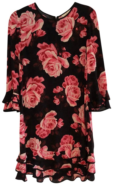 Preload https://item3.tradesy.com/images/kate-spade-black-and-pink-rosa-ruffle-shift-mid-length-night-out-dress-size-8-m-23888312-0-1.jpg?width=400&height=650