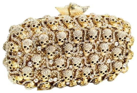 Preload https://img-static.tradesy.com/item/23888315/skull-crystal-gold-clutch-0-1-540-540.jpg