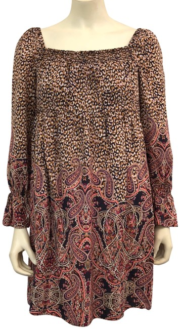 Preload https://img-static.tradesy.com/item/23888316/anthropologie-brown-milou-babydoll-short-casual-dress-size-0-xs-0-1-650-650.jpg