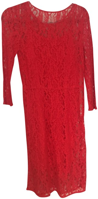 Preload https://img-static.tradesy.com/item/23888322/madewell-red-lace-mid-length-cocktail-dress-size-4-s-0-1-650-650.jpg