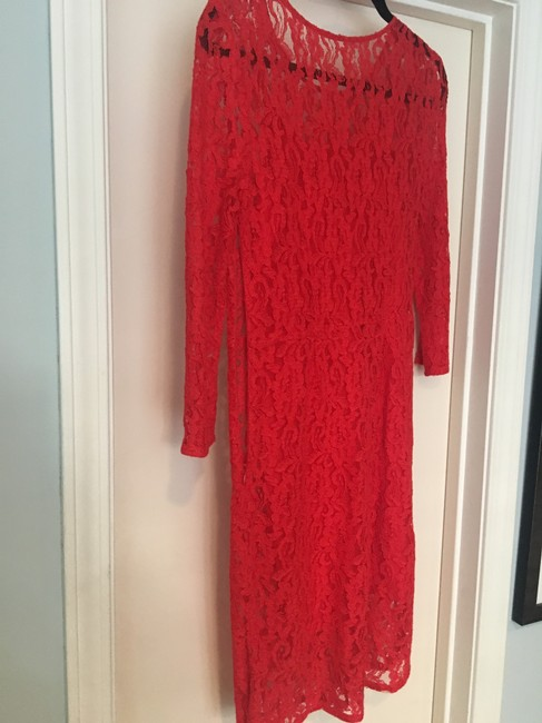 Madewell Lace Hot Pink Conservative Dress