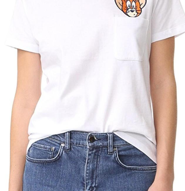 Preload https://item4.tradesy.com/images/white-x-tom-jerry-pocket-tee-shirt-size-4-s-23888328-0-1.jpg?width=400&height=650