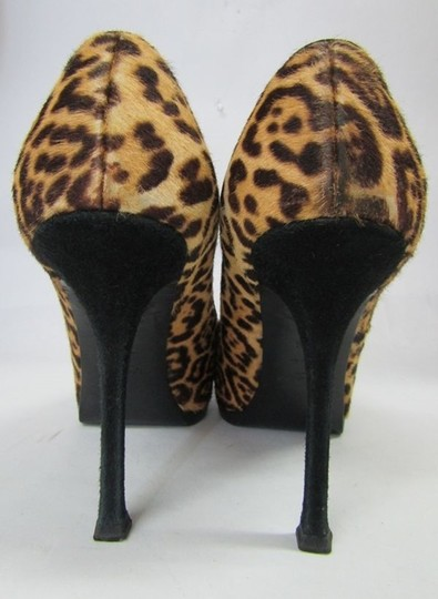 Saint Laurent Heel Stiletto Leopard Print Platforms