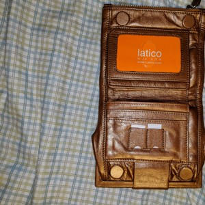 Latico Bronze leather wallet