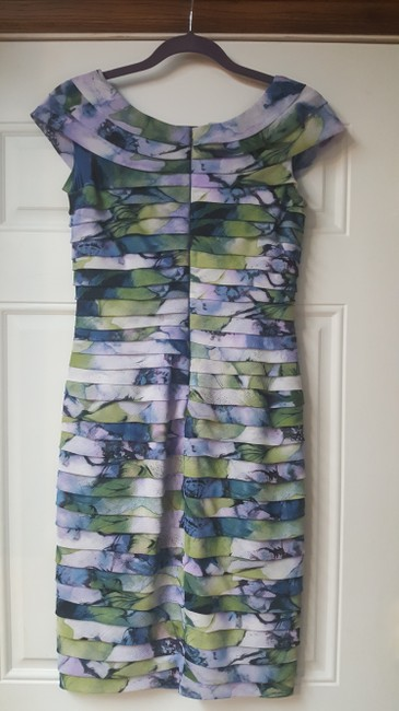 Adrianna Papell Tiered Multi-color Spring And Summer Dress