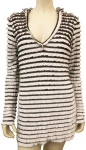 Ogie Kanogie Ruffle Long Sleeve Hoodie Cover-up Casual Tunic