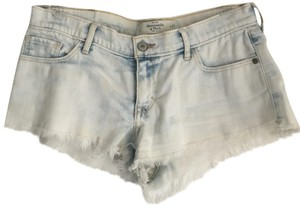 Abercrombie & Fitch Light Wash Cutoff Mini/Short Shorts Bleached Denim
