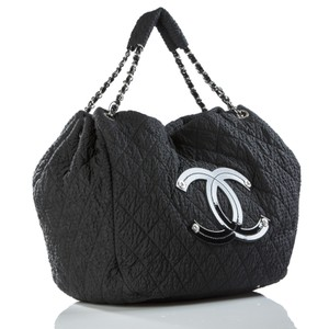 Chanel Overnight Cabas Black Travel Bag