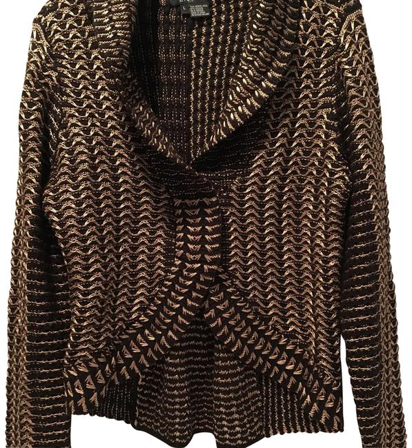 Preload https://item4.tradesy.com/images/etcetera-black-and-tan-peplum-style-collared-never-worn-sweaterpullover-size-12-l-23888403-0-1.jpg?width=400&height=650