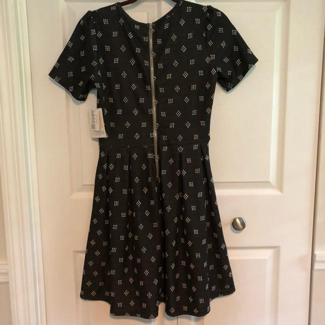LuLaRoe short dress black/dk grey and white on Tradesy