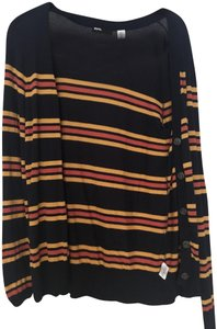 Urban Outfitters Blue Yellow Stripe Cardigan