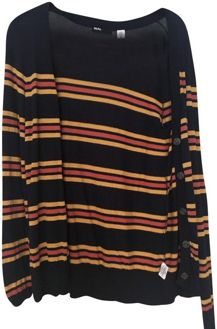 Preload https://img-static.tradesy.com/item/23888432/urban-outfitters-navy-gold-and-orange-stripe-cardigan-size-8-m-0-1-650-650.jpg