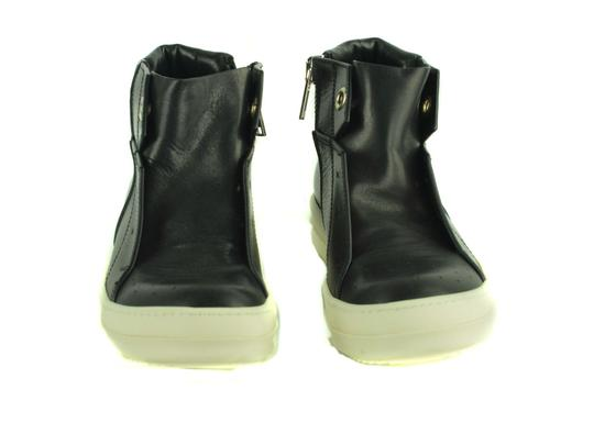Rick Owens Leather Sneakers Italian Rubber Black Athletic