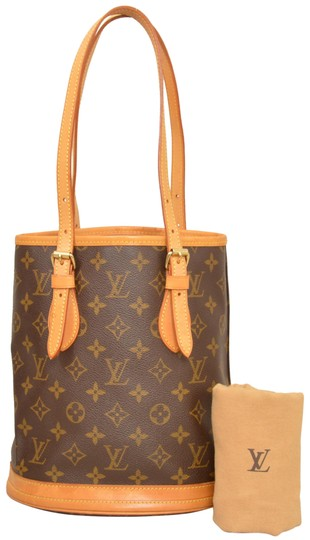 Preload https://item5.tradesy.com/images/louis-vuitton-bucket-pm-monogram-brown-coated-canvas-shoulder-bag-23888444-0-1.jpg?width=440&height=440