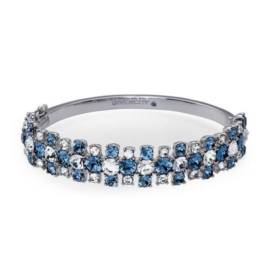 Givenchy Silver-Tone Crystal Bangle