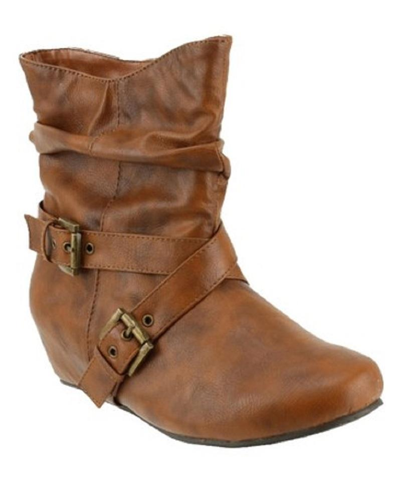 Red Slouch Circle Footwear Camel Malika-pu Slouch Red Boots/Booties cd73a0