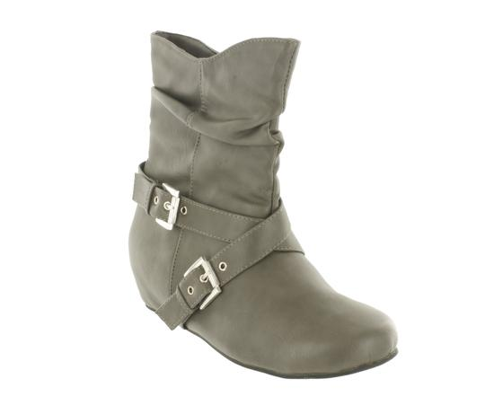 Red Circle Footwear Cute Slouch Grey Boots