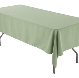 Sage 60 X 126 Inch Rectangular Polyester (5) Tablecloth