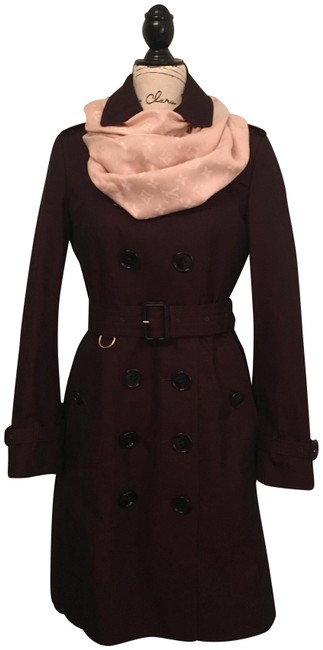 Item - Burgundy With Wool Plaid Lining Coat Size 6 (S)