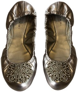 Tahari Leather Gold Flats